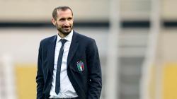 Pemain klub Liga Serie A Italia, Juventus, Giorgio Chiellini incar juara Liga Champions.