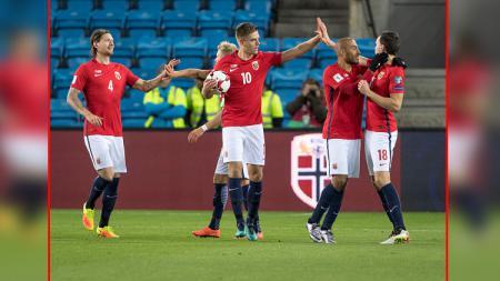 Salah satu pemain muda Timnas Norwegia U-20, Hakon Evjen menjadi incaran Manchester United. - INDOSPORT