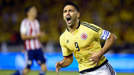 Radamel Falcao, striker Timnas Kolombia. - INDOSPORT