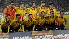 Indosport - Para pemain Timnas Catalunya.