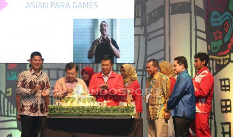 Wakil Presiden RI, Resmikan Hitung Mundur Asian Para Games 2018. (INDOSPORT/Herry Ibrahim) Copyright: INDOSPORT/Herry Ibrahim