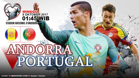Andorra vs Portugal. - INDOSPORT