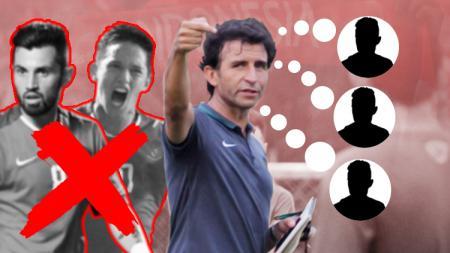 Berikut tiga nama yang menjadi pemain penting dalam strategi permainan Luis Milla di Timnas Senior. - INDOSPORT