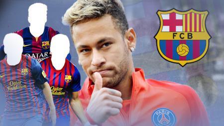 Neymar dn Barcelona. - INDOSPORT