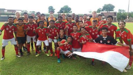Tim Pelajar Indonesia U-16 di turnamen Borneo Cup 2017. - INDOSPORT