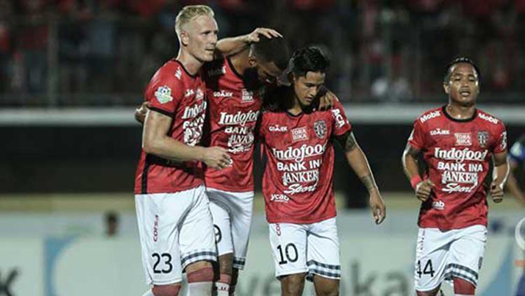 Selebrasi para pemain Bali United. Copyright: Liga Indonesia