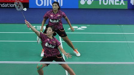 Jauza Fadhila Sugiarto/Ribka Sugiarto sempurnakan kemenangan tim Indonesia.