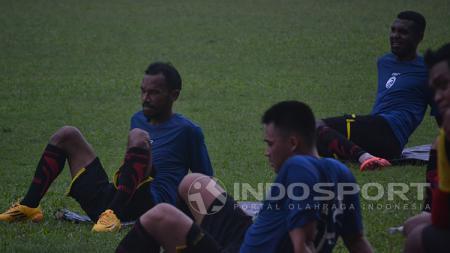 Skuat Sriwijaya FC tengah berlatih jelang menghadapi Perseru Serui. - INDOSPORT