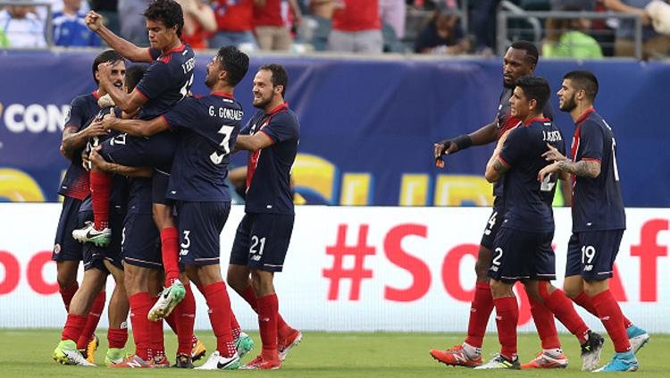 Selebrasi para pemain Panama usai memastikan diri lolos ke Piala Dunia 2018. Copyright: INDOSPORT