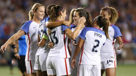 Selebrasi Timnas Amerika Serikat Wanita. - INDOSPORT