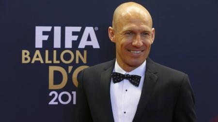 Arjen Robben saat menghadiri penghargaan FIFA Ballon d'Or - INDOSPORT