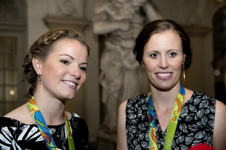 Kamilla Rytter Juhl/Christinna Pedersen mengaku sebagai pasangan sesama jenis Copyright: Nils Meilvang/Scanpix