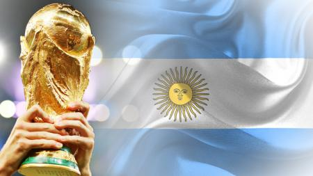 Piala Dunia dan Bendera Argentina. - INDOSPORT