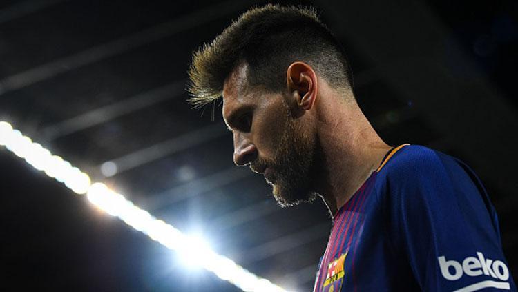 Lionel Messi, pemain megabintang Barcelona. Copyright: INDOSPORT