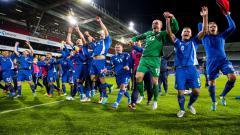 Indosport - Selebrasi Pemain Islandia