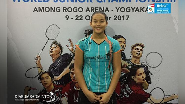 Alyssa Tirtosentono, pebulutangkis Belanda keturunan Indonesia. Copyright: Djarumbadminton.com