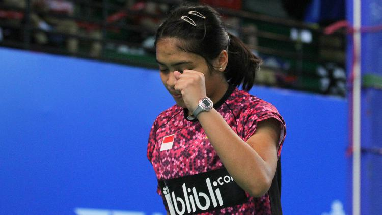 Gregoria Mariska sumbang satu poin untuk Indonesia. Copyright: Humas PBSI