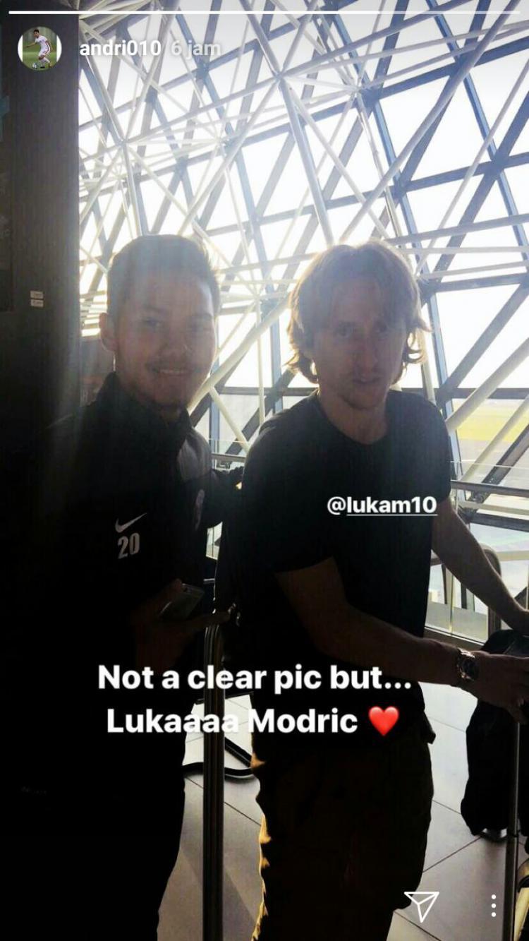 Andri Syahputra dan Luka Modric. Copyright: Instagram/@andri010