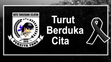 Viola Tangsel berduka karena meninggalnya suporter Persita Tangerang. - INDOSPORT