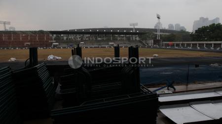 Stadion Madya sempat dinyatakan tidak layak dipergunakan untuk ajang Asian Games 2018 karena beberapa faktor. - INDOSPORT