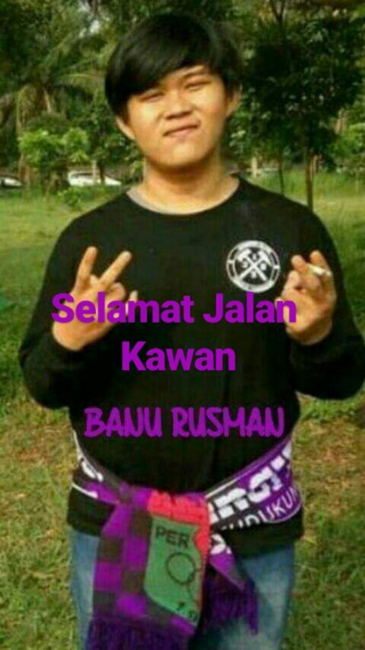 Banu Rusman, pendukung Persita yang tewas sehari pasca pengeroyokan oleh suporter PSMS Medan. Copyright: Instagram/@persita.official