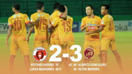Hasil pertandingan Perseru Serui vs Sriwijaya FC. - INDOSPORT