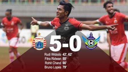 Hasil pertandingan Persija Jakarta vs Gresik United. - INDOSPORT