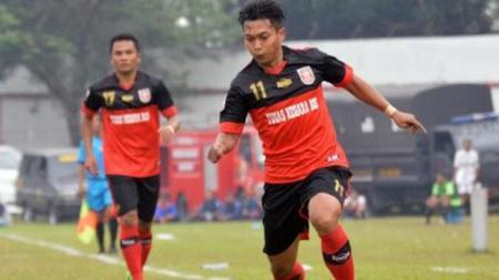 Penyerang PSMP Mojokerto, Indra Setiawan. - INDOSPORT