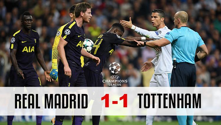 Real Madrid 1-1 Tottenham Copyright: Panca Putra Pamungkas/INDOSPORT