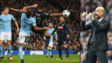 Pelatih Man City, Pep Guardiola senang bertanding melawan Napoli. - INDOSPORT