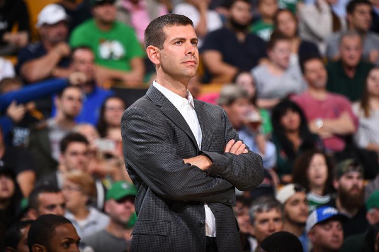 Brad Stevens, pelatih Boston Celtics. Copyright: INDOSPORT