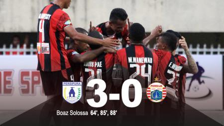 Hasil pertandingan Persipura Jayapura vs Persija Jakarta. - INDOSPORT