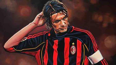 Paolo Maldini, legenda AC Milan. - INDOSPORT