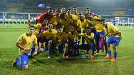 Skuat Brasil U-17. - INDOSPORT