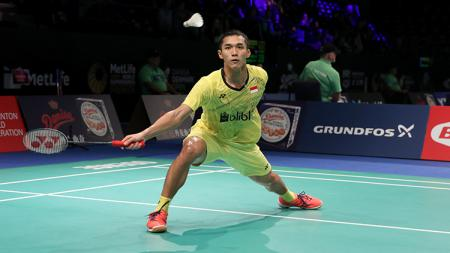 Tunggal Putra Indonesia, Jonatan Christie di ajang Denmark Open Super Series Premier 2017. - INDOSPORT