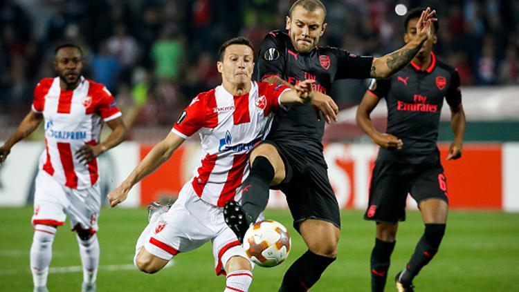 Red Star Belgrade vs Arsenal. Copyright: Istimewa