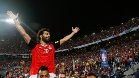 Mohamed Salah menjadi pahlawan Mesir. - INDOSPORT