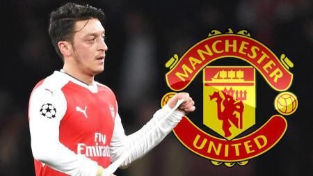 Mesut Ozil dirumorkan akan ke Manchester United pada musim depan. - INDOSPORT