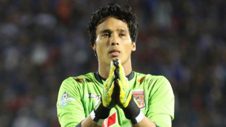 Kiper Borneo FC, M. Ridho Djazulie. - INDOSPORT