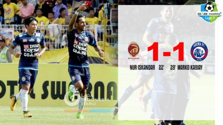 Hasil pertandingan Sriwijaya FC vs Arema FC. - INDOSPORT
