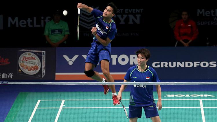 Tontowi Ahmad/Liliyana Natsir di Perempatfinal Denmark Open 2017 Copyright: Humas PBSI