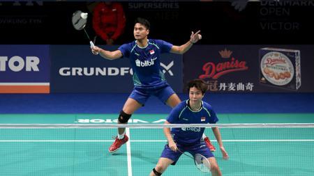 Tontowi Ahmad/Liliyana Natsir di babak perempatfinal Denmark Open 2017. - INDOSPORT