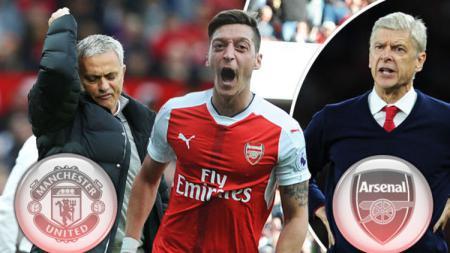 Mesut Ozil diisukan akan bergabung dengan Manchester United. - INDOSPORT