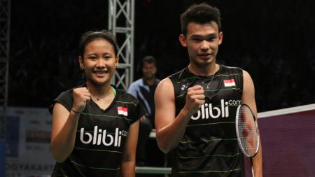 Wakil Indonesia, Rinov Rivaldy/Pitha Haningtyas Mentari, lolos ke babak kedua China Open 2019. - INDOSPORT