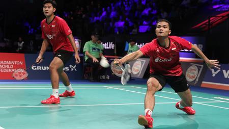 Angga Pratama/Ricky Karanda Suwardi torehkan prestasi di ranking BWF. - INDOSPORT