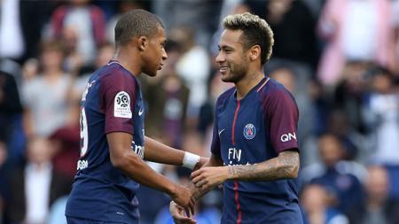 Neymar dan Kylian Mbappe. - INDOSPORT
