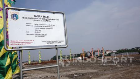 Kondisi Pembangunan Stadion BMW, Jakarta Utara. - INDOSPORT