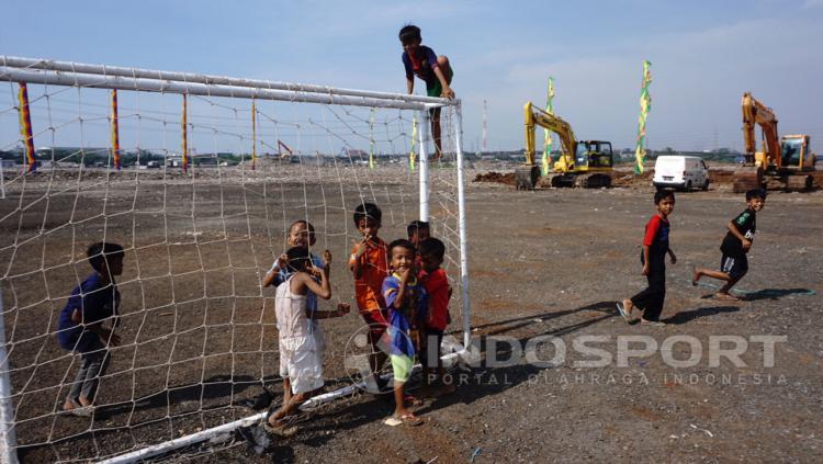 Kondisi Pembangunan Stadion BMW Copyright: Herry Ibrahim/Indosport.com