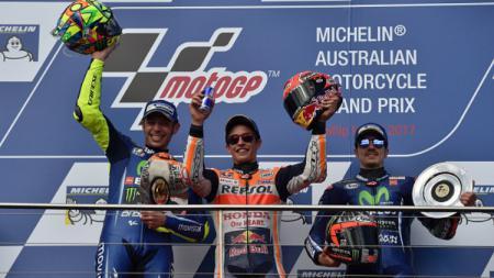 Marc Marquez juara MotoGP Australia 2017. - INDOSPORT