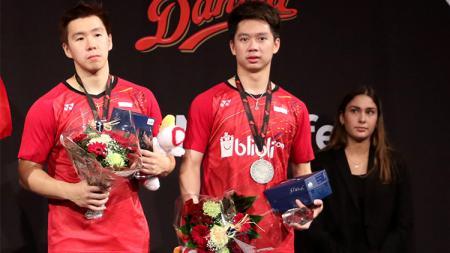 Kevin Sanjaya/Marcus Gideon gagal raih juara di Denmark Open 2017 - INDOSPORT